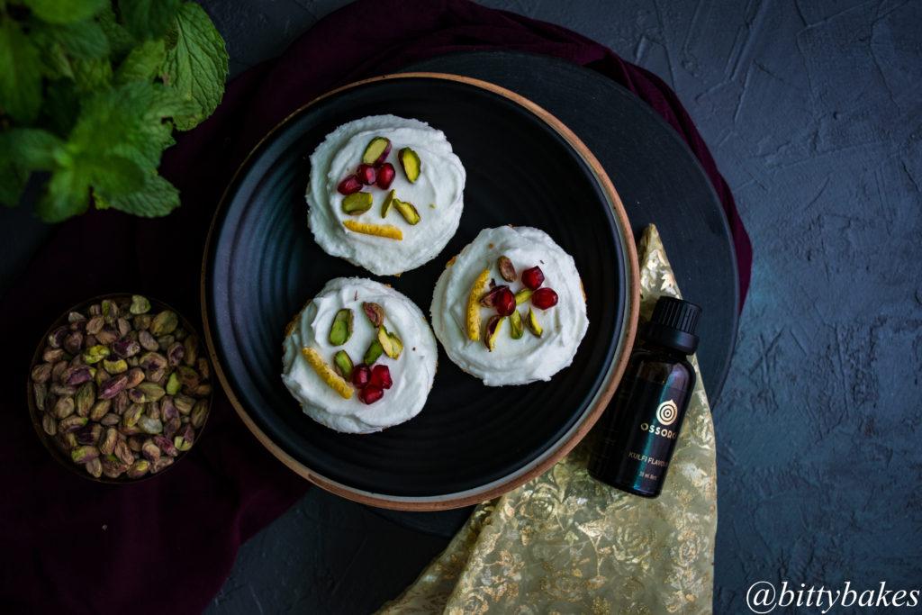 No-Bake Mini Kulfi Cheesecake