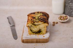 buttery pistachio babka